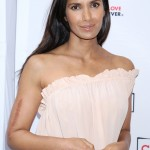"Padma Lakshmi has no issue showing off her arm scar, which is from a brutal car crash when she was 14. ""My body is a blueprint of my life, of every tragedy — emotional or physical. I love my scar,"" she's said. (Photo: WENN)"
