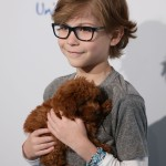 """Room"" star Jacob Tremblay's adorable little puppy Rey Tremblay quickly became a social-media superstar after he brought her to a red carpet. (Photo: WENN)"
