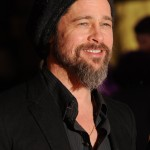 "Brad Pitt's beanie wasn't nearly as eye-catching as his long goatee at the red carper of the ""Kick-Ass"" premiere. (Photo: WENN)"