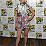 January Jones looked beautiful as ever as she attended Comic Con wearing a pair of see-through stilettos with black cap toe and heel. (Photo: Release)