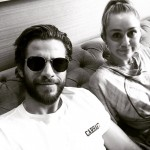 The couple laughed off breakup rumors with a cute car ride posted to Liam's Instagram. (Photo: Instagram)