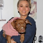 "Kaley Cuoco and her dog Sweeting show their support at the 4th annual ""Stand Up For The Pits"" dog and adoption appreciation event in L.A. (Photo: WENN)"
