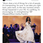 Elle Magazine Editor in Chief Nina Garcia honored Aretha Franklin with one of her most iconic quotes. (Photo: Twitter)