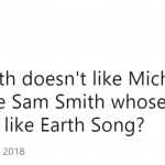 "Sam didn't seem to dislike Michael Jackson when he came up with 2Writing's On The Wall"". (Photo: Twitter)"