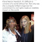 Legend Barbra Streisand shared a picture posing with Aretha Franklin back in 2012. (Photo: Twitter)