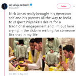 Why wouldn't he? Indian engagement and wedding events are dope! (Photo: Twitter)