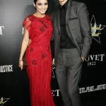 Austin and his girlfriend channeled their old Hollywood style at Hollywood Domino & Bovet 1822 Gala. (Photo: WENN)
