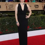 The actress looked stunning as she walked down the SAG Awards 2017 red carpet wearing a timeless black Brandon Maxwell gown. (Photo: WENN)