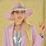 """Lady Gaga posing for the cameras at the photocall for her album """"Joanne."""" (Photo: WENN)"""