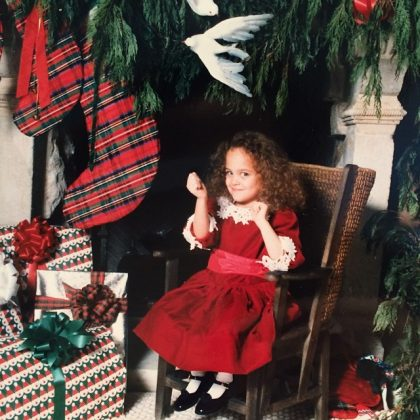 We don't know what we love the most—if that giant pile of presents, the massive dove on the wall, or Nicole's adorable pose. (Photo: Instagram)