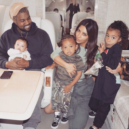 Back in January, Kanye and Kim welcomed their third child together and named her after the rapper's hometown. (Photo: Instagram)