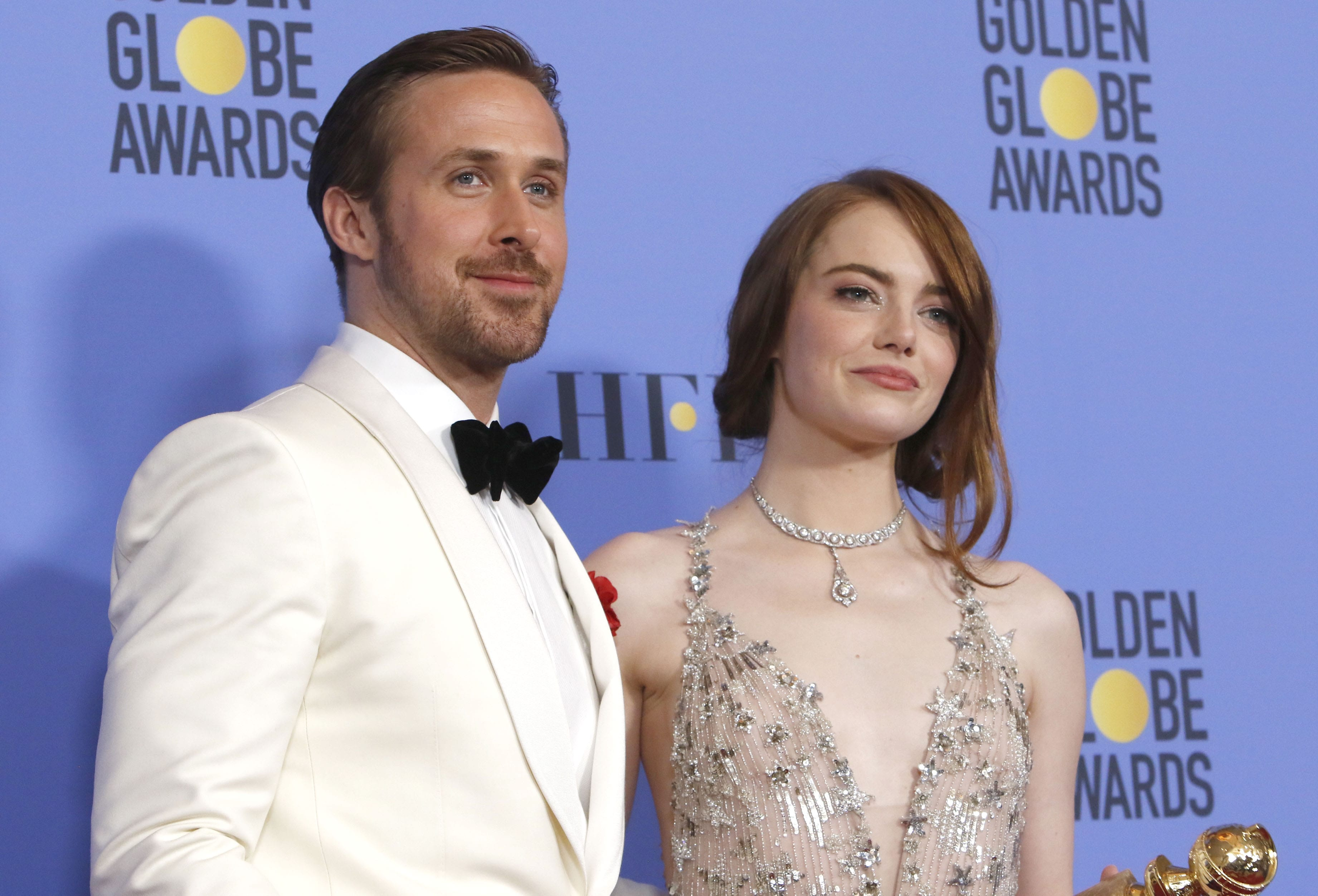 "Emma Stone can't stop gushing over her ""dear and wonderful friend"" Ryan Gosling. (Photo: WENN)"