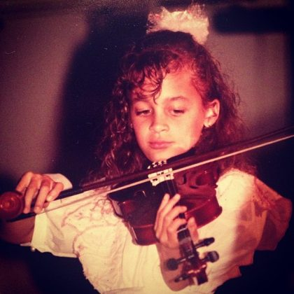 Dreams DO come true. Well, Nicole's dream of becoming a talented violinist didn't, but a lot of them do. (Photo: Instagram)