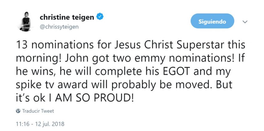 When she made John's EGOT history win all about herself. (Photo: Twitter)