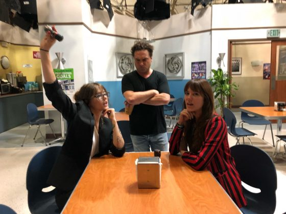 "Meyer has even visited Galecki at work! She shared a photo of them on the set of the 12th and final season of ""Big Bang"" on September 6 alongside the caption ""Keeping it spicy & salty."" (Photo: Instagram)"