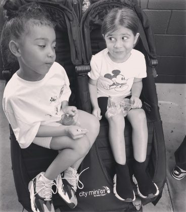 North spilling the tea to her bestie, Penelope. (Photo: Instagram)