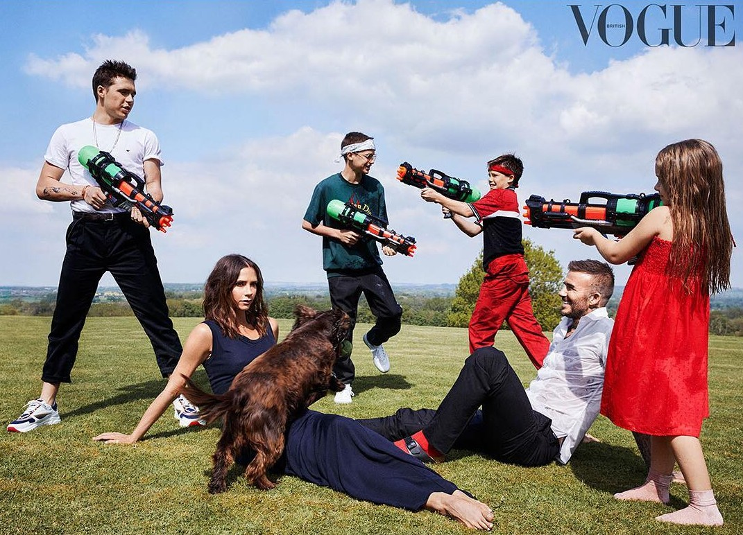 The Beckhams recently posed for a fun British Vogue photoshoot in celebration of 10 years of success of Victoria's fashion label. But this isn't the first time the star-studded clan has given us some serious #FamilyGoals. (Photo: Instagram)