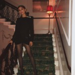 Zendaya celebrated the long weekend AND her 22nd birthday in little black dress and black, see-through tights. (Photo: Instagram)