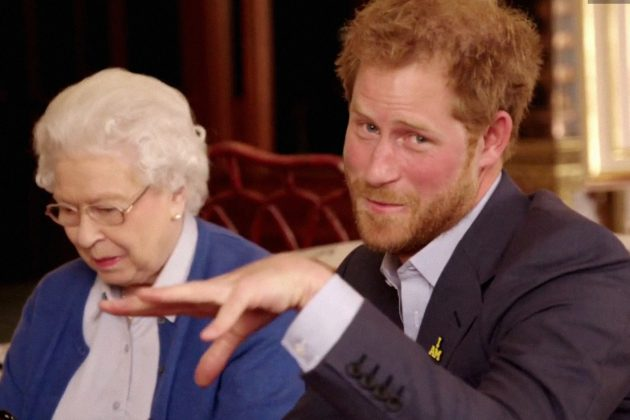 They say a way to a woman's heart is laughter, and Prince Harry has a great sense of humor. He's probably the goofiest member of the royal family, as proven by the iconic mic drop pic above. (Photo: WENN)