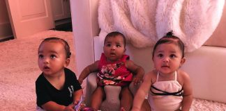 Chi, True and Stormi may be daughters from different mothers, but they could easily be triplets. (Photo: Instagram)