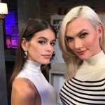 "Karlie Kloss celebrated her fellow top model Kaia Gerber's birthday. ""Birthday girl. Love you @kaiagerber,"" the newly-engaged beauty wrote under this picture. (Photo: Instagram)"