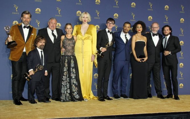 "The 22 nominations ""Game of Thrones"" netted in 2018 pushed the series' total count up to a record-breaking 128—the most of any primetime scripted series in Emmy history. (Photo: WENN)"