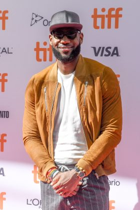 """""""I'd just love for kids to understand how empowered they can feel and how empowered they can be if they don't just give up on their dreams,"""" LeBron said of the upcoming movie. (Photo: WENN)"""
