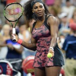 The American tennis player opted for a series of black snakeskin-like print outfits, titled the Greatness Collection, at the 2015 U.S. Open. (Photo: WENN)