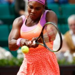 The multi-awarded athlete won yet another Grand Slam at the 2015 French Open in a neon pink and orange dress with leopard-print skirt. (Photo: WENN)