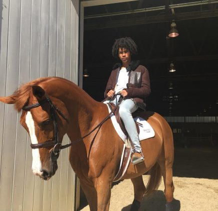"Besides acting and modeling, Luka is into horseback riding. He even has his own horse named Mucho. ""You can say she holds mucho weight,"" he joked. (Photo: Instagram)"