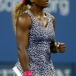 Williams competed at the U.S. Open 2014 in a leopard-print outfit that spoke to her personality, literally: the ensemble was called the Serena dress. (Photo: WENN)