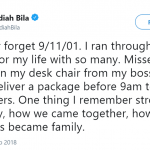 "Former ""The View"" host Jedediah Bila remembered her personal experience on the day of the attacks. (Photo: Twitter)"