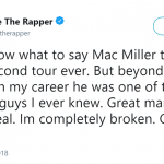 Chance The Rapper was left speechless after the news of Mac Miller's dead. (Photo: Twitter)