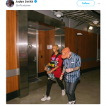 "Jaden Smith shared a picture alongside the rapper followed by a tweet that read ""Long Live Mac"". (Photo: Twitter)"
