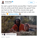 "Snoop Dogg shared a clip of ""Scary Movie 5"" were he star alongside Mac Miller in honor of the late rapper. (Photo: Twitter)"