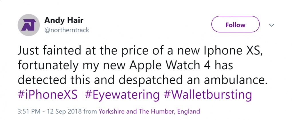 So make sure yoy buy the Apple Watch beforehad. Marketing at its best. (Photo: Twitter)