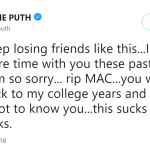 Charlie Puth regretted not spending more time with his friend Mac before his tragic passing. (Photo: Twitter)