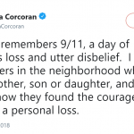 """Shark Tank"" star Barbara Corcoran also shared her thoughts on 9/11. (Photo: Twitter)"