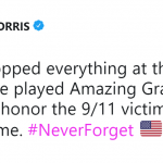 Grammy Winner Maren Morris shared her experience at an airport on the 17th anniversary of the 9/11 attacks. (Photo: Twitter)