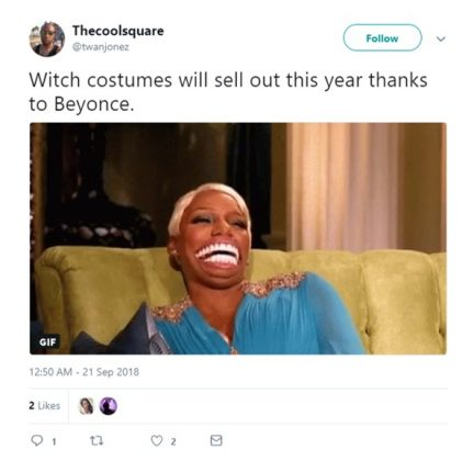 How could I make my Gryffindor gown more Beyoncé? (Photo: Twitter)