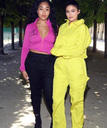 Kylie and Jordyn taking tracksuits to a whole new level. (Photo: Instagram)