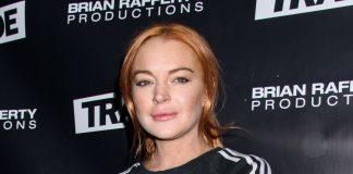 Lindsay Lohan accused the parents of a Syrian refugee family of human trafficking in a bizarre video. (Photo: WENN)
