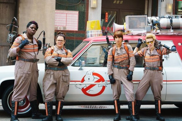 """Ghostbusters""—The franchise is such a beloved fan favorite that this admirable remake starring the hilarious quartet of Wiig, McCarthy, McKinnon, and Jones received a lot of backlash from dudes who didn't want to give women a chance to be this funny. (Photo: Release)"
