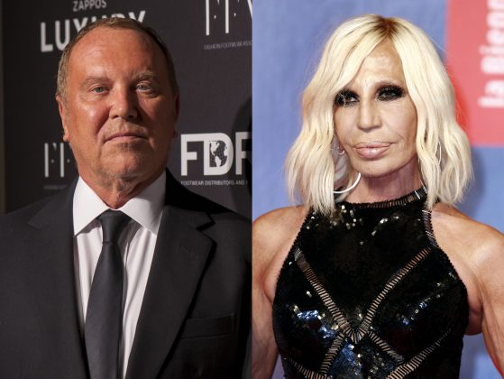 Michael Kors bought Versace, but he sure hasn't earned the brand's acolytes' approval just yet. (Photos: WENN)