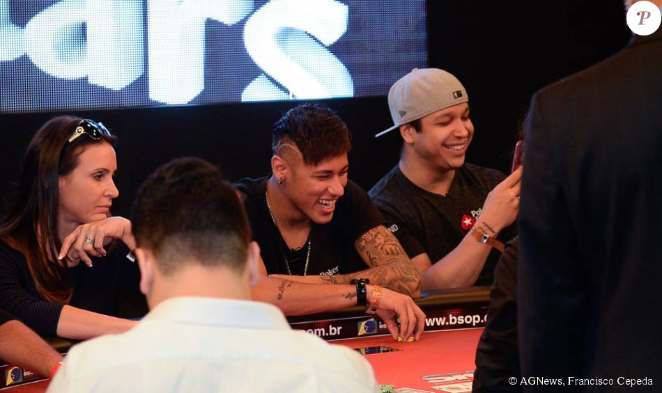 Neymar Jr not only appears in poker sites ads, but he also plays poker at major events including the WSOP. (Photo: AgNews)