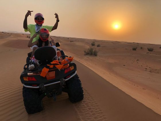 The Formula 1 ace also posted a picture with Nicki from their desert adventures. (Photo: Instagram)