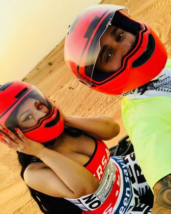 The hip-hop diva shared a picture of her Dubai vacations alongside alleged new boyfriend Lewis Hamilton. (Photo: Instagram)
