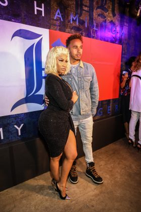 Nicki and Lewis were first linked earlier this month when they hit the red carpet together at the lunch party for his fashion line for Tommy Hilfiger in NYFW. (Photo: WENN)