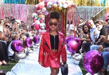 When North West made her catwalk debut at LOL Surprise fashion show. (Photo: Instagram)
