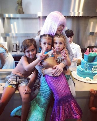 When North channeled her inner Ariel and became the most fashionable mermaid for her 3rd birthday. (Photo: Instagram)